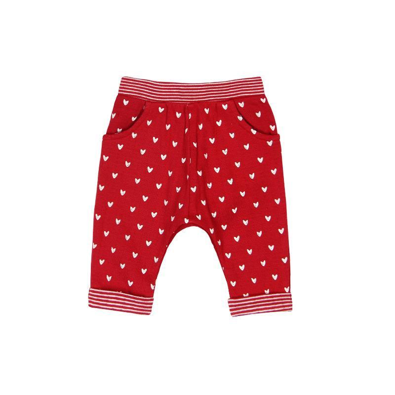 Бебешки панталон с принт на сърчица за момиче  118