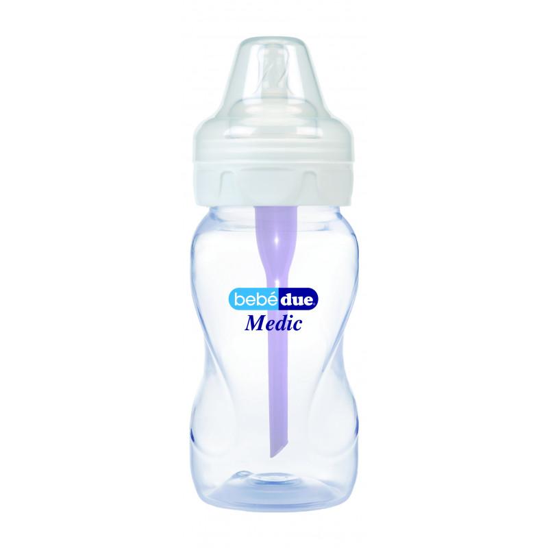 Стъклено шише за хранене, с биберон 2 капки, 3+ месеца, 330 мл, цвят: многоцветен  1220