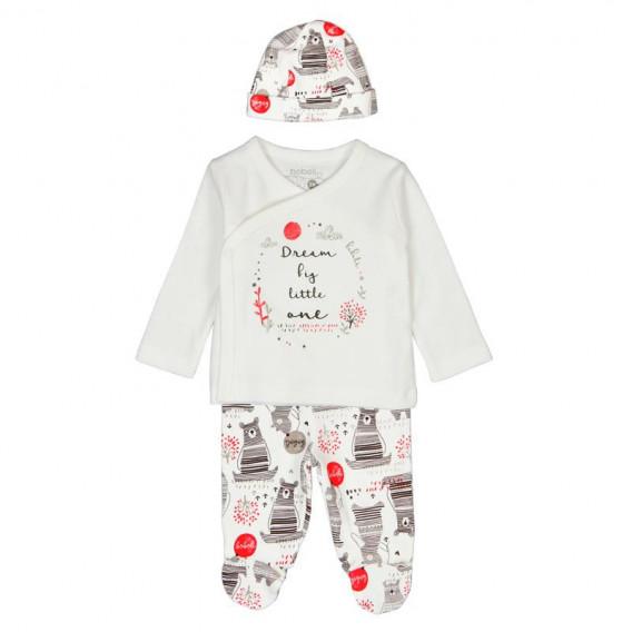 Памучен комплект за бебе от 4 части Boboli 123 2
