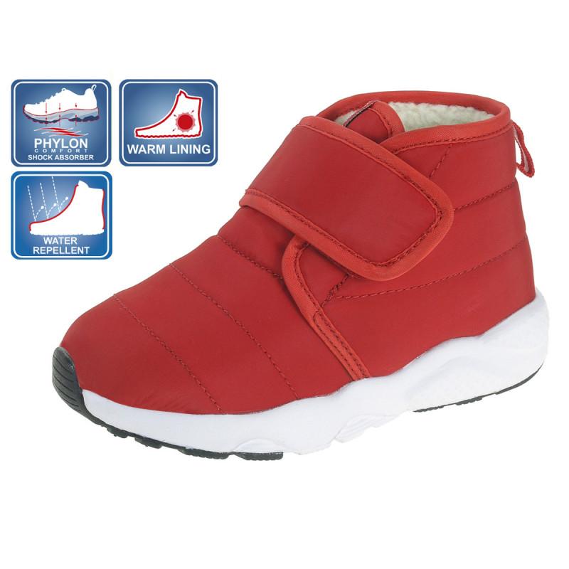 Непромокаеми текстилни боти, червени  12330