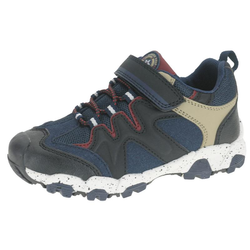 Обувки  с връзки, велкро и гайка с цветни акценти  12345