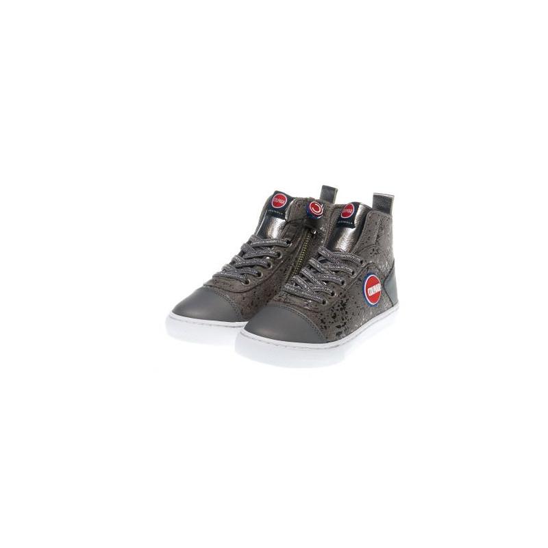Сиви спортни обувки за момиче със сребристи детайли  12379