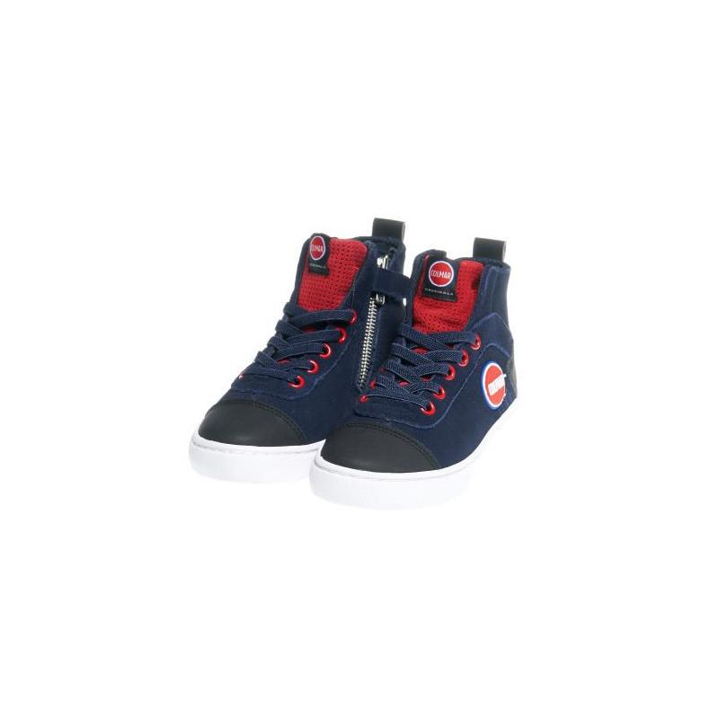 Високи спортни обувки за момче с цип в синьо  12399