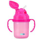 Чаша със сламка, розова BebeDue 1259