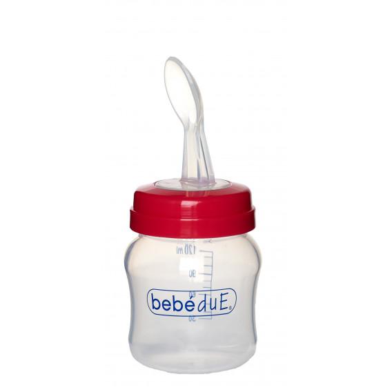 Бебешка бутилка с лъжица BebeDue 1260