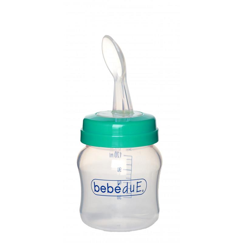 Полипропиленово шише за хранене, с биберон , 6+ месеца, 120 мл.  1261