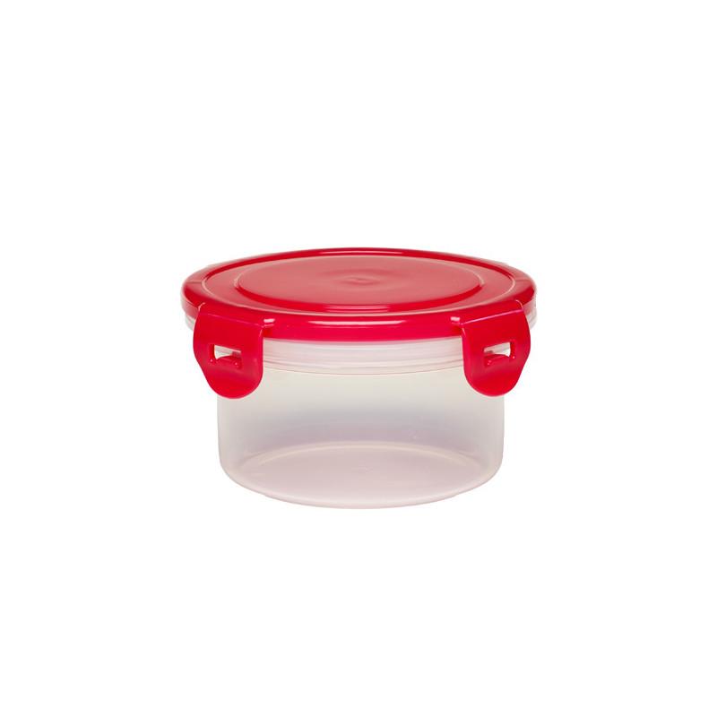 кутия за съхранение на храна с червен капак, 400 мл, Пластмасова 400 мл  1264