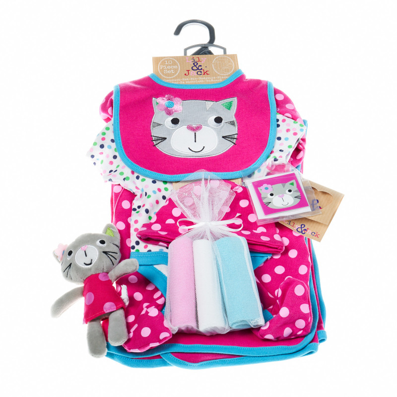 Комплект за бебе момиче 10 части LILY AND JACK 13248