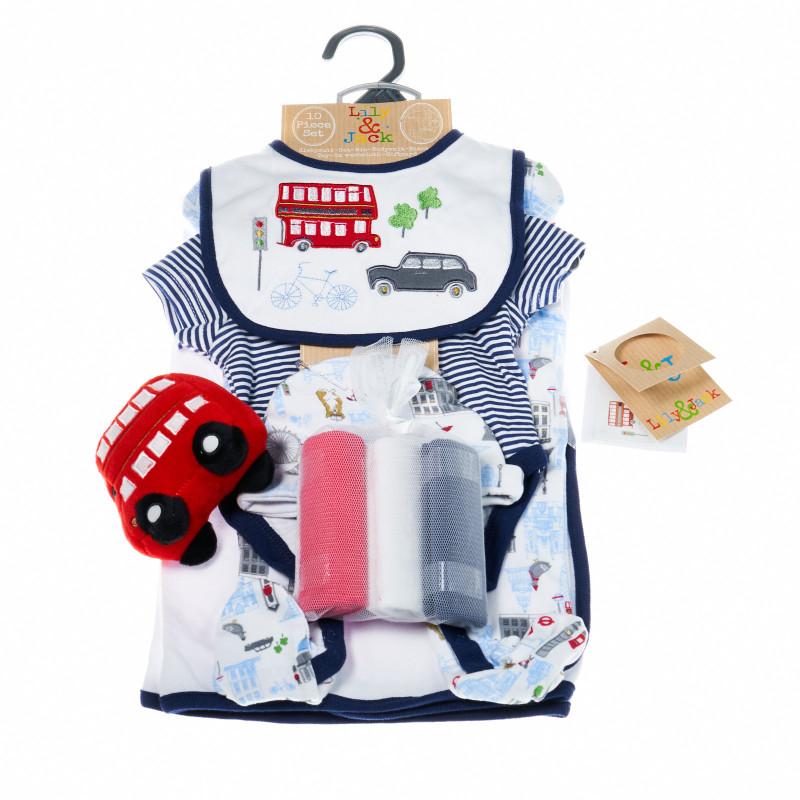 Комплект за бебе момче от 10 части Лондон LILY AND JACK 13282