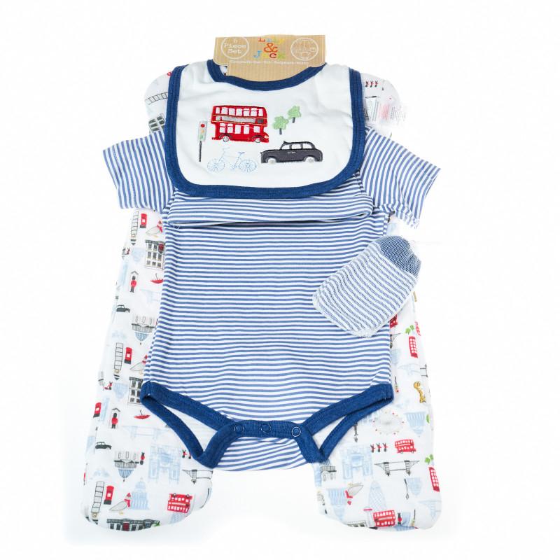 Комплект за бебе момче от 5 части, Лондон  13339