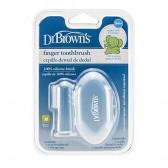 Силиконов пръстов накрайник за миене на зъби DrBrown's 13644