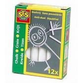 Комплект бели тебешири - 12 броя SES 13763