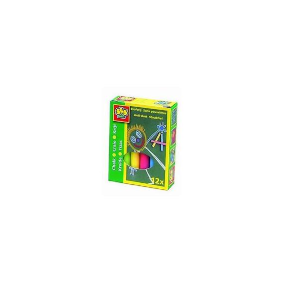 Комплект цветни тебешири - 12 броя SES 13764