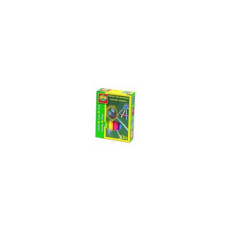 Комплект цветни тебешири - 12 броя  13764