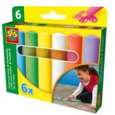 Комплект тебешири 6 цвята SES 13828