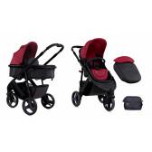 Комбинирана детска количка триколка calibra black&red 2 в 1 Lorelli 13953