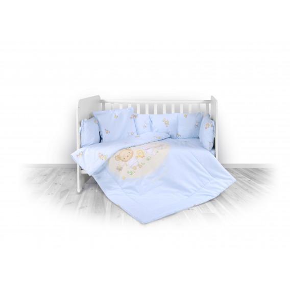 "Спален комплект син 4 части- ""лили"" Lorelli 14106"