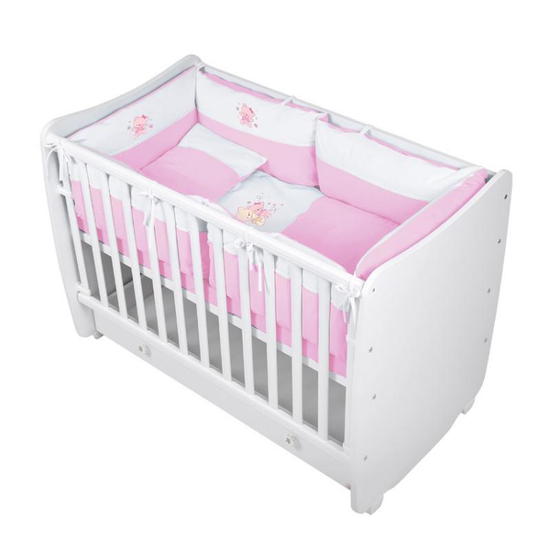 Спален комплект 7 части ZaZa, цвят: Розов  14116