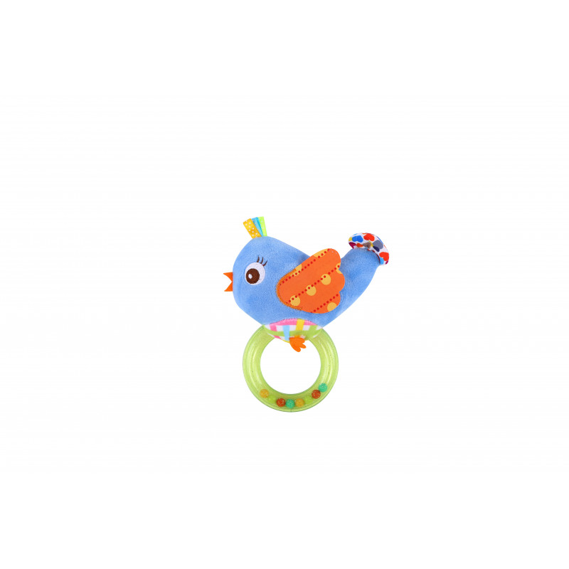 Дрънкалка- кръг, птица, цвят: син  1413