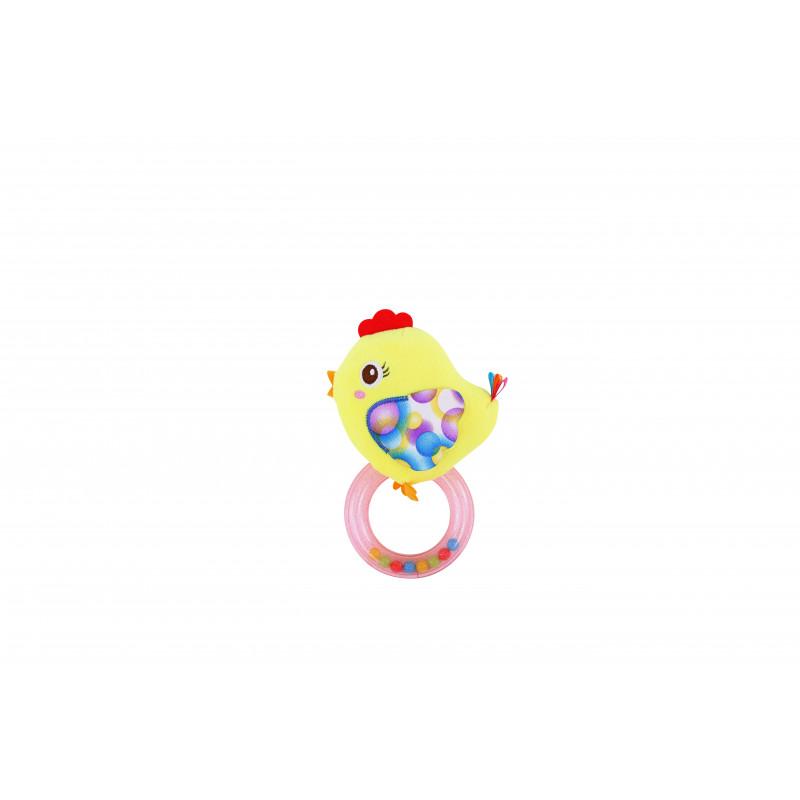 Дрънкалка- кръг, пиле, цвят: жълт  1414