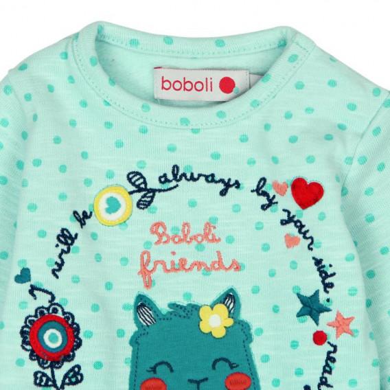 Памучна рокля за бебе Boboli 144 3