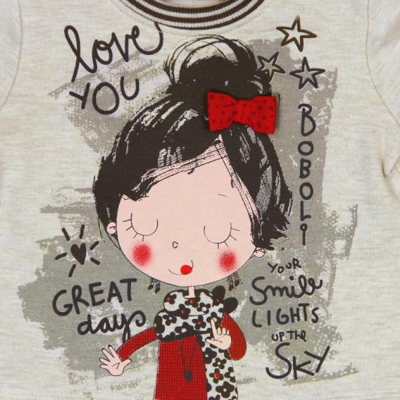 Блуза с дълъг ръкав за момиче Boboli 168 4