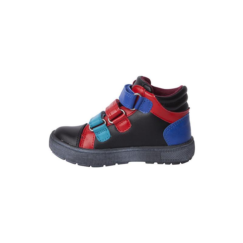 Обувки за момче с акценти в синьо и червено  1703