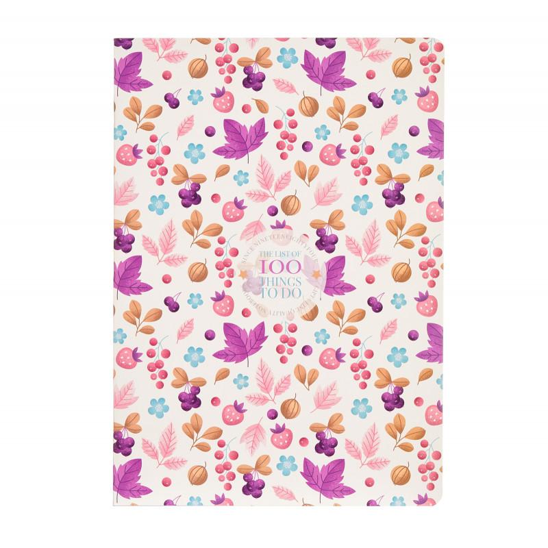 Тетрадка Things to do, А 4, 40 листа, широки редове, лилав  175208