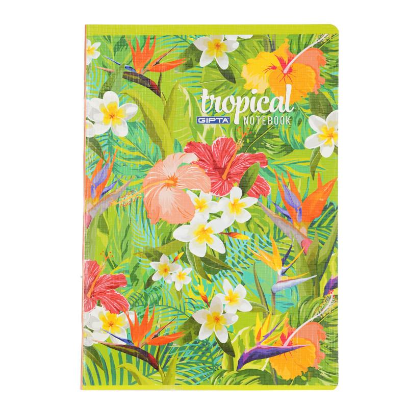 Тетрадка Tropical, А 4, 60 листа, широки редове, многоцветен  176412