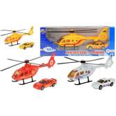 Сет хеликоптер и метална количка Dino Toys 17948