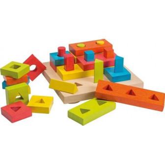 Дървен пъзел с геометрични форми Dino Toys 17975