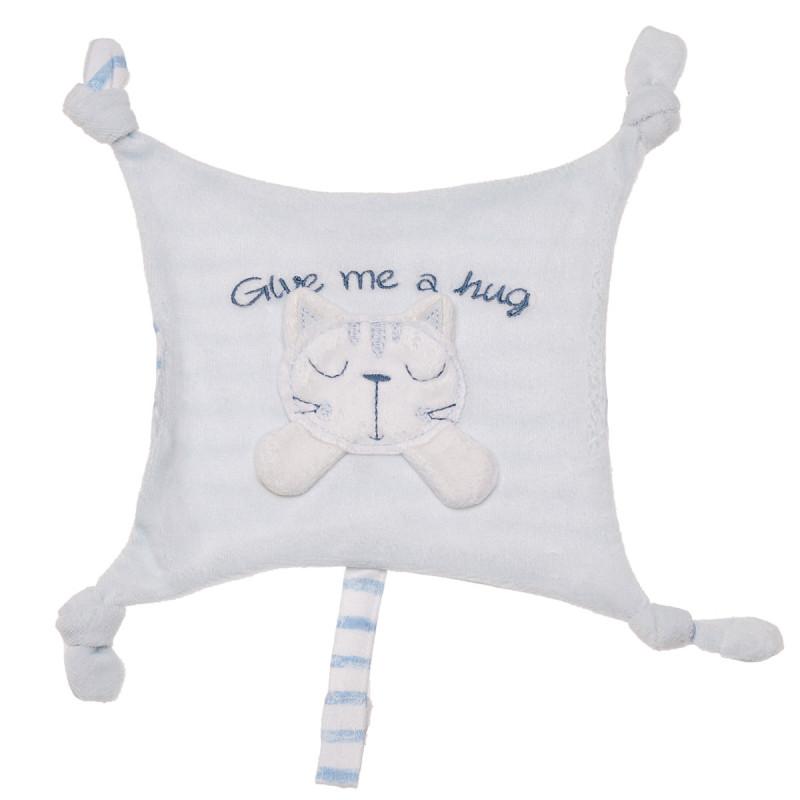 Кърпа за гушкане и спане за момче синьо коте  180947