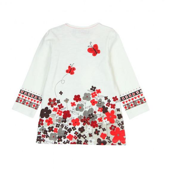 Памучна рокля с дълъг ръкав за бебе Boboli 181 2