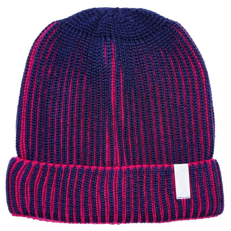 Плетена шапка в синьо за момче  182754