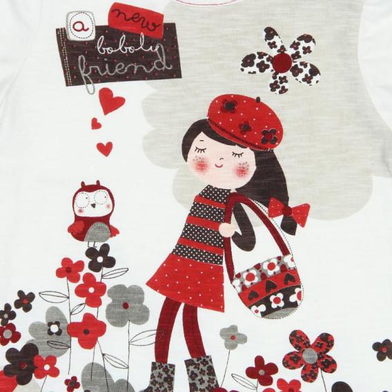 Памучна рокля с дълъг ръкав за бебе Boboli 183 4