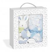"""Бебешко одеяло с играчка- """"зайче с морков"""" Inter Baby 18371 3"""