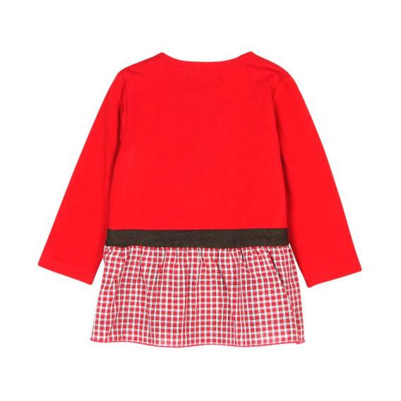 Памучна рокля с дълъг ръкав за бебе Boboli 185 2