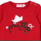 Памучна рокля с дълъг ръкав за бебе Boboli 186 3