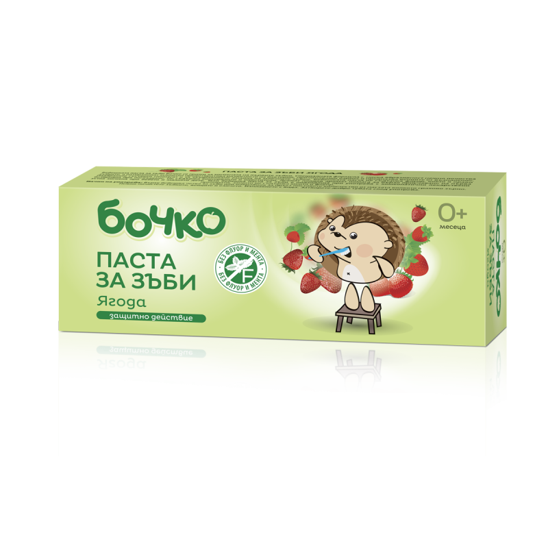 Паста за зъби с аромат на ягода, пластмасова тубичка, 50 мл  19230