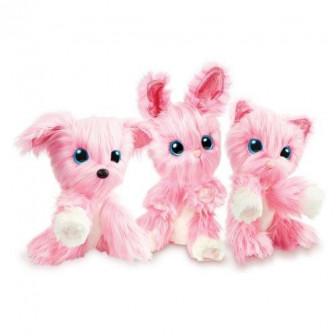 Плюшено животинче розово 24 x 19 x 13.5 cm Fur balls 19504