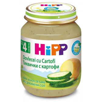 Био пюре от тиквички и картофи, 3-5 месеца, бурканче 125 гр. Hipp 19558