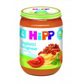 Био пюре спагети болонезе, 3-5 месеца, бурканче 190 гр. Hipp 19571