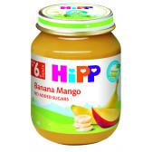Био пюре от банани и манго, 6+ месеца, бурканче 125 гр. Hipp 19593