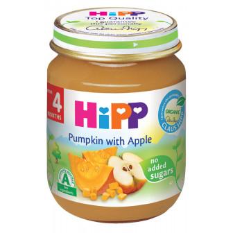 Био пюре от тиква с ябълки, 3-5 месеца, бурканче 125 гр. Hipp 19596