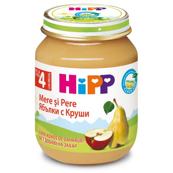 Био пюре от круши и ябълки, 3-5 месеца, бурканче 125 гр. Hipp 19599