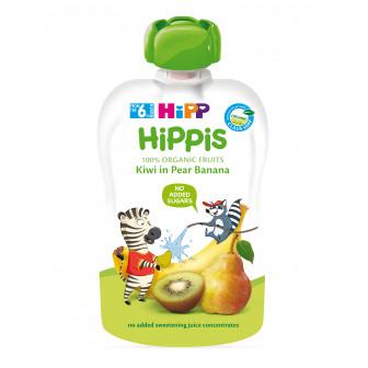 Био закуска круша, банан и киви, 6+ месеца, пауч 100 гр. Hipp 19605