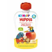 Био закуска ябълка, банан и бебешки бисквити, 3-5 месеца, пауч 100 гр. Hipp 19607