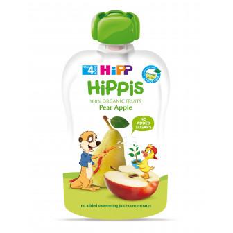 Био закуска ябълка и круша, 3-5 месеца, пауч 100 гр. Hipp 19608