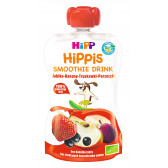 Био смути напитка ябълка, банан и червени плодове, 1+ години, пауч 120 мл. Hipp 19609