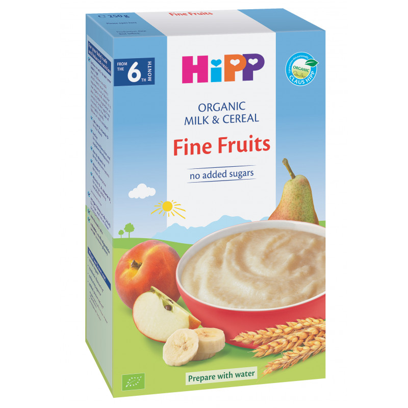 Био млечна каша свежи плодове, 6+ месеца, кутия 250 гр.  19622